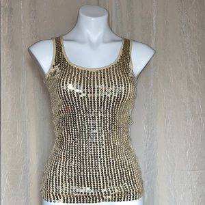 Fleurish Gold sequin tank top